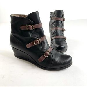 Eric Michael Moto Strap Ankle Boots